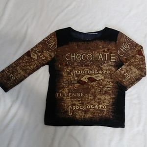 Long Sleeve Graphic T- Shirt - No Brand or Sz Tag